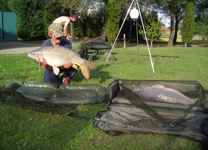 photo-of-two-big-carp-caught-together-at-smallwater-lakes-in-france