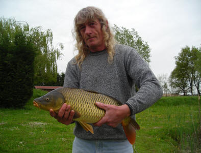 13-lb Common carp from smallwater lake in france