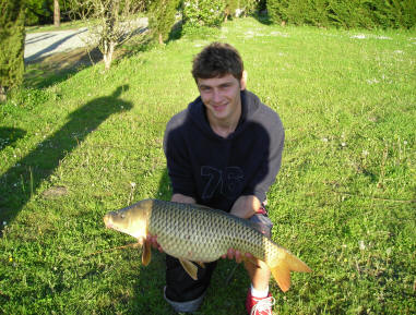 20-lb Common carp from smallwater lake in france